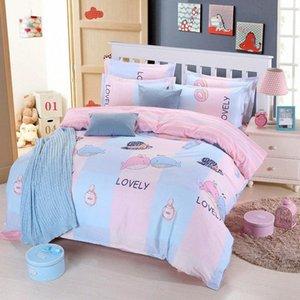 Yumuşak Rahat Uyku Seti Yatak Çarşafları Nevresim + Düz Levha + Yastık 3 / Tek Tam Kraliçe Kral PFtu #