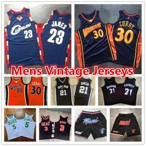 Lebron Vintage Tim Duncan 21 23 James Stephen Kevin Garnett 5 Curry Dwyane Wade 3 MiamiChaleurCavalierGuerrier Basketball Maillots