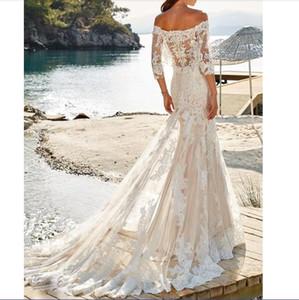 Eddy K Mermaid Wedding Dress Off The Shoulder Robe De Mariee Beach 2018 Wedding Dresses Bridal Gowns
