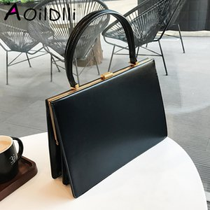 designer bagAOILDLLI Vintage Clasp Women Handbags Medium Metal Frame Design High Quality Female Tote Bags Spring 2020 Red Black Box Packing