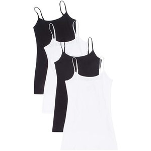 Pack of 4PC Women Adjustable Shoulder Vest Flattering Top Blouse Casual Tops Sleeveless T-Shirt Mama Clothes