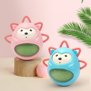 Cute Baby tumbler toy Baby bath toy with bell ringing hedgehog baby teether ABS material 2 colors gift