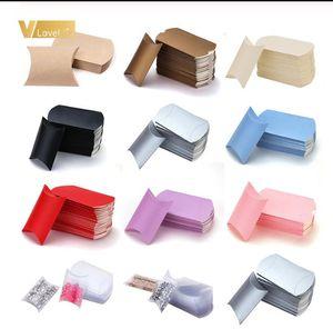 OEM DIY Vente en gros bon marché Kraft Oreiller Box Emballage personnalisé Extensions de cheveux imprimés Packaging papier oreiller boîte boîte cadeau