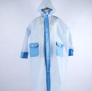 Wholesale-Translucent adult raincoat unisex breathable waterproof mildew reflective outdoor raincoat