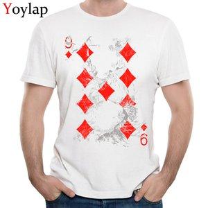 YOYLAP Tüm Pamuk Yetişkin Komik T Shirt Özelleştirilmiş Komik Mürettebat Yaka Kısa Kollu Tee Shirt Kalite Tişörtlü Kart 9 Tops