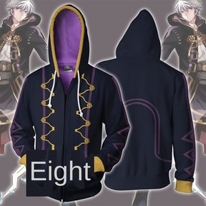 PWVD4 New Flame Badge Robin 3D Impreso Cardigan Cosplay Animation New Flame Badge Robin Impreso 3D Hoodie Cardigan Hoodie Cosplay Animación