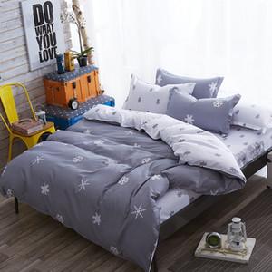 Comforter king grey bedclothes bed linen snowflake Cotton Bedding set Winter bedsheets duvet cover sets35 T200814