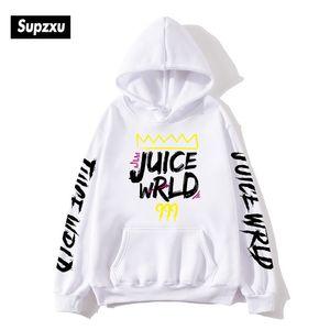 2020 Black and White JUICEWrld Hoodie Sweatshirt Juice Rap Rainbow Story Juice World Warm Jacket Fashion Casual Pocket Hoodie