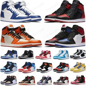 Jumpman 1 1s scarpe da basket Atletica Sneakers scarpa da corsa per le donne di sport della torcia Hare Gioco Reale Pine Green Court 36-46