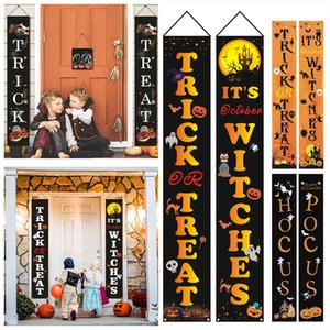 16 Estilos 32 * 180 centímetros Halloween Couplets Halloween Cortina bandeira decoração do Dia das Bruxas Fontes Oxford pano de suporte personalizado Impressão XD23824