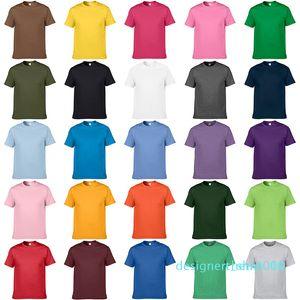 Unisex Teamwear Casual Artı boyutu Kısa Kollu Tişört Erkekler Kadınlar Çocuk Yaz Katı Pamuk Yuvarlak Yaka Tişört Kısa Kollu Düz Tee d10 için