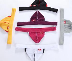 Fine Men's strapless thong mesh wj men's brand underwear hollow sexy breathable mesh men's underwear 5piece lot