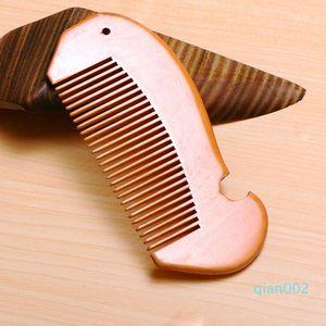 دقيق الخشب مشط اللحية مشط محفورة مخصصة أمشاط الليزر مشط الشعر خشبية للنساء الرجال الاستمالة مخصصة شعارك LXL599-1