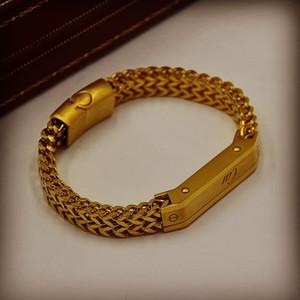 2020 neue Luxus-Armband aus Titan Metall gesponnene Armbänder mit Cartles Branding-Mann Schmuck Charm Bracelets Men Wear Pulseira Als Geburtstagsgeschenk