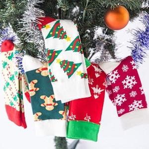 горячие рождественских украшения рождественских носков подарка сумки Рождество для мужчин и женщин Снежного зеленый Guai небольшого дерево носков T2I51343