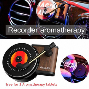 Record Player Car Air Vent Air Freshener Car Perfume Rotary Diffuser Retro Interior Accessories Accessory Free for 3 n0fx#