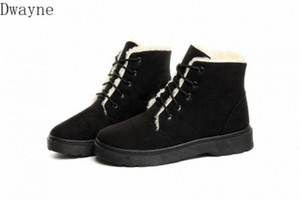 2020 New Fashion Plus Velvet Short Boots Lightweight Warm Snow Boots Autumn And Winter High Top Waterproof Cotton Shoes Western Boots DZ3O#