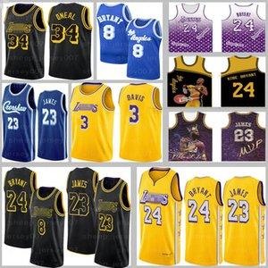 LeBron James 23 Jerseys MensLosAngelesLakersShaquille O'Neal 34 0 Kuzma Anthony 3 Davis Basketball BRYANT Jerseys