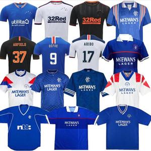 20 21 Glasgow Rangers FC Heim Gast Fußballjerseys 2020 2021 Rangers Trikot weiß Men + Kinder Kit Fußball-Hemd Uniform Thailand eingestellt