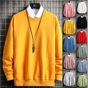 Solid Hoodie Sweatshirts Men Cotton Pullover Streetwear Oversize Hip Hop Hoodies Men Clothing O Neck Black White Basic Hoodies