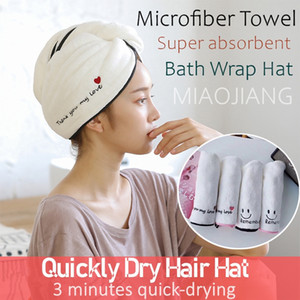 Magic Microfiber Towel Quickly Dry Hair Hat Super Water Absorption 3 minutes quick-drying