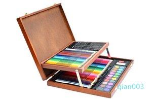 Die Fabrik Kinder Malerei Geschenk-Set Art Malerei Farbe führte Hochwertige Holz-Box Briefpapier-Set