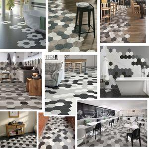 Fashion Waterproof Bathroom Floor Stickers,Peel Stick Self Adhesive Floor Tiles,Kitchen Living Room Decor Non Slip Floor Decal
