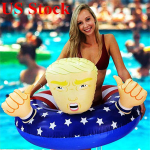 Fun Trump Swimming Ring Circle Inflatable for Adult Sports Outdoors Funny Swimming Pool Party Toys kids Life Vest DHC1220
