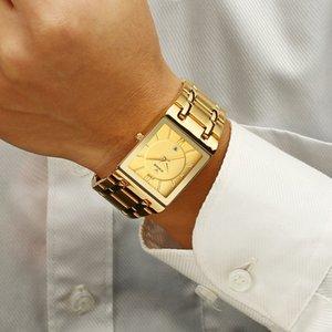 Relogio WWOOR Мужчина для золота Часы Мужчины площади Мужские часы Top Brand Luxury Golden Quartz из нержавеющей стали Водонепроницаемые наручные часы