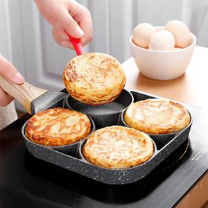 Aluminum 4-Cup Omelet Egg Frying Pot Pan Non Stick Fried Egg Cooker Pancake Omelette Pan Poacher Home Kitchen Cooking Cookware