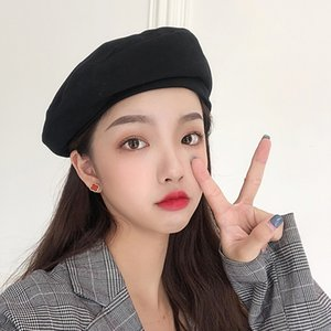 Korean Ulzzang hat casual fashion punk funny Harajuku couple solid color Vintage hip-hop Japanese new winter beret hat