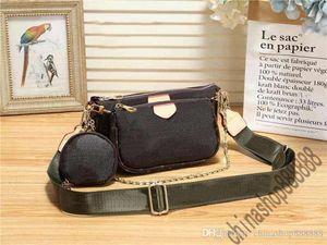 toz torbası ile üç-in-on crossbdoy çanta cüzdan Çanta V M44813 Çıkarılabilir omuz askısı omuz zincir cüzdan oln