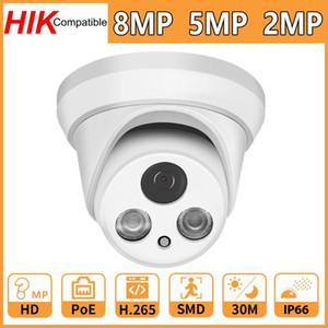 Hikvision Compatible 8MP 5MP 2MP Network IP Camera Home Security CCTV Camara PoE HD 1080P IR30M ONVIF H.265 P2P Plug&Play Cam