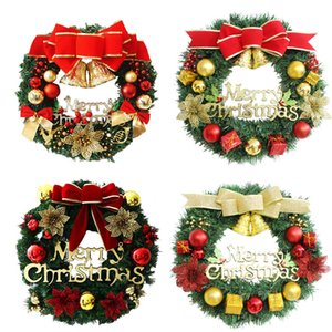 Corona de árbol de Navidad Fiesta de Navidad Decoración familia de la pared decoración Ambiente corona de la decoración cuatro colores DWE1895