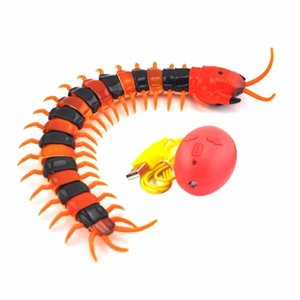 NOVO elétrica infravermelho RC Centipede Simulação Insect Remote Control Centipede elétrica recarregável Gato engraçado Tricky Dog Toy Y200330