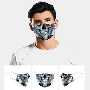 2020 nouveaux masques mode masque designer Rose fiower personnalisée adulte crâne expression impressionnante drôle Drôle de frimousse Imprimer Halloween