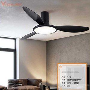 42-дюймовый Реверсивный потолочный вентилятор с LED Light Kit творческий подвесной светильник вентилятора с дистанционным управлением
