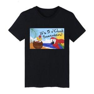 T-Shirt Es ist 5 Uhr irgendwo Partei Parrot Happy Hour Margarita Flagge für Dekoration