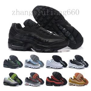 Nike Air Max 95 Airmax Drop Shipping corrida Atacado Sapatos Homens Almofada 95 OG Sneakers Botas 95s autêntico New Walking Discount Sports Shoes Tamanho 36-46 A415