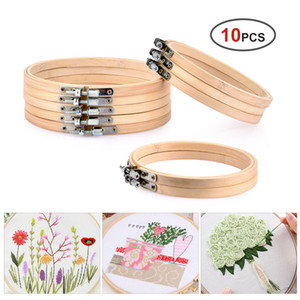Sewing Notions & Tools 10pcs Set 13cm 15cm Practical Embroidery Hoops Frame Set Bamboo Wooden Rings For DIY Cross Stitch Needle Craft
