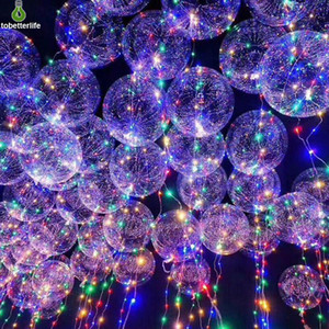 BOBO Ball led string balloon light Transparent LED Balloon Light for Christmas Halloween Wedding Party home Decoration