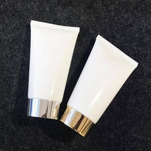 150g Empty White Soft Tube Facial Refillable Portable Traveling Tubes Squeeze Cosmetic Containers Cream Lotion Plastic Bottles