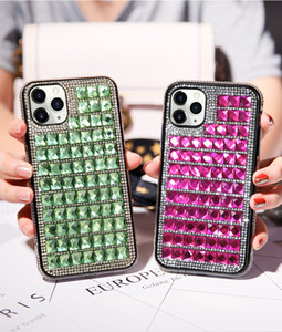 Triangle Glass Diamond Shockproof Defender Case Luxury Rhinestone Phone Case For iPhone 11Xs Max 12 11 Pro X Xr 8 7 6Plus MAX