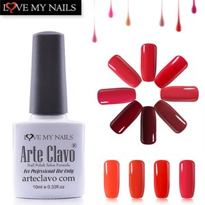 Arte Clavo 10ml Hot Sale Red Color Series Soak Off Gel Lacquer Nail Polish Nail Art Set Gel Polish Top Coat And Primer