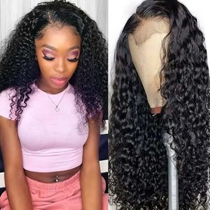 Water Wave Wig Short Curly Hair Lace Front Human Hair Wig For Black Women Bob Long Deep Wig Wet And Wavy Hd Full