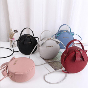 2020 Fashion Women Round Bag Leather Women Circular Shoulder Messenger Bags Ladies Mini Purse Corssbody Bag Female Handbag Bolsa