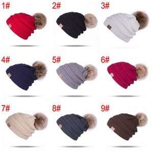 Beanie Skull Caps Knitted Winter Hat With Ball Pom Poms Fashion Leisure Beanie Outdoor Hats Women Girls Thick Knitted Hat Bh2618 Tqq