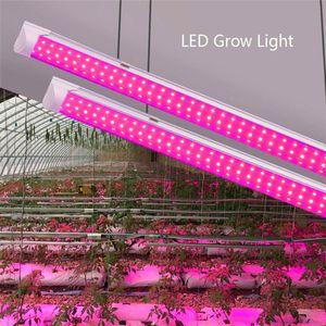 380-800nm 660nm Tam Spektrum LED Işık LED Tıbbi Bitkiler ve Bloom Meyve Pembe Renk Tüp 8ft T8 V Şeklinde Entegrasyon Tüpü Grow