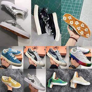 2020Classic Golf Le Fleur х Chuck 70 Chenille Новые женщины Star Skateborad обувь Мода GLF 1970 High Pink Canvas Sneaker Размер 36-44