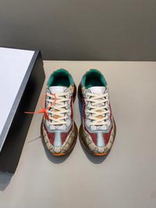 2020 Hommes Femmes Rhyton Casual Dad Chaussures Paris Luxury Designer House emblématique Sneaker toile mini rétro tissu jacquard semelle épaisse 620185
